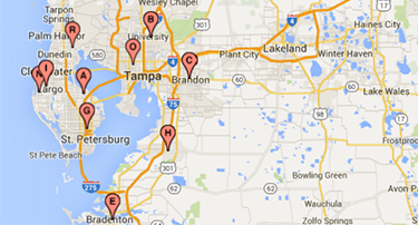 Tampa Bay Surgical Group practice locations